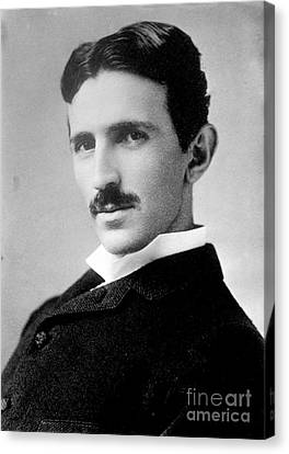 Nikola Tesla, Serbian-american Inventor Canvas Print by Science Source