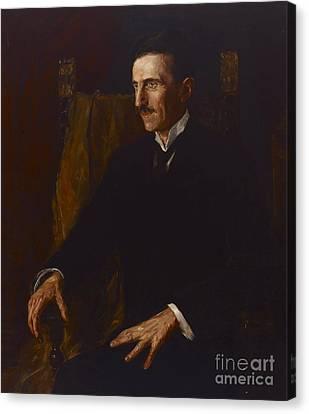 Serbian Canvas Print - Nikola Tesla by Vilma Lwoff-Parlaghy