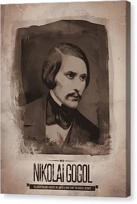 Nikolai Gogol Canvas Print by Afterdarkness