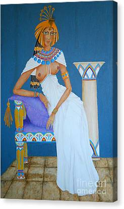 Nile Nymph -- Cleopatra, #1 In Famous Flirts Series Canvas Print
