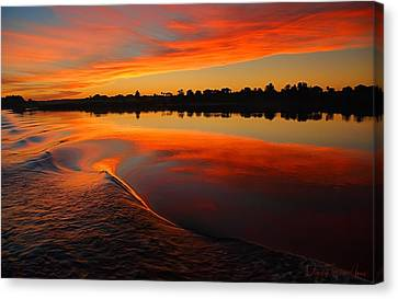 Nile Sunset Canvas Print by Nigel Fletcher-Jones
