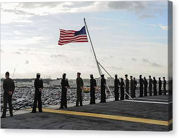 Nimitz-class Aircraft Carrier Uss Theodore Roosevelt  Canvas Print by Celestial Images