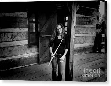 Nina On The Porch Canvas Print by Dan Friend
