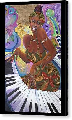 Nina Simone Canvas Print by Lee Ransaw