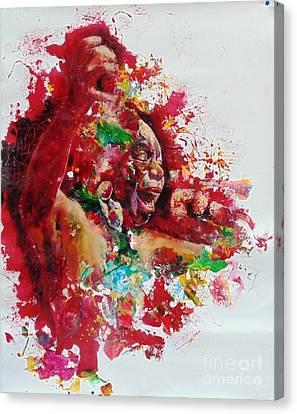 Nina Simone Canvas Print by Massimo Chioccia