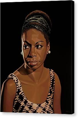 Gershwin Canvas Print - Nina Simone Painting 2 by Paul Meijering