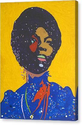 Nina Simone Canvas Print by Stormm Bradshaw