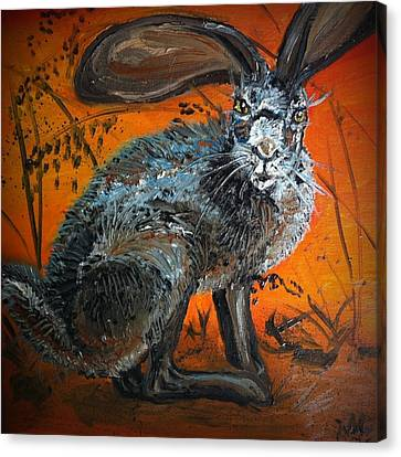 Nina's Rabbit Canvas Print by Alexandria Weaselwise Busen