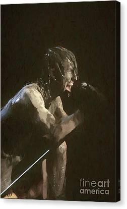 Pictur Canvas Print - Nine Inch Nails Trent Reznor Painting by Concert Photos