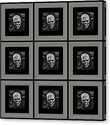 Shower Head Canvas Print - Nine Lives by Darin Baker