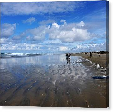Ninety Mile Beach New Zealand Canvas Print by Heidi Fickinger