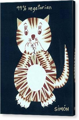 Ninety Nine Percent Vegetarian Canvas Print by Lourdes  SIMON