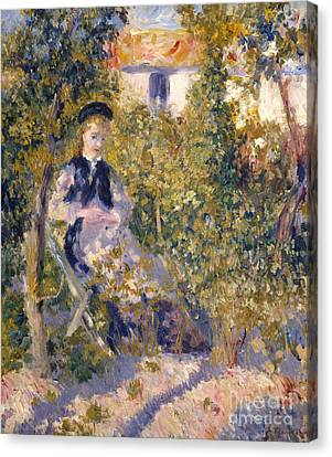 Nini In The Garden, 1876 Canvas Print