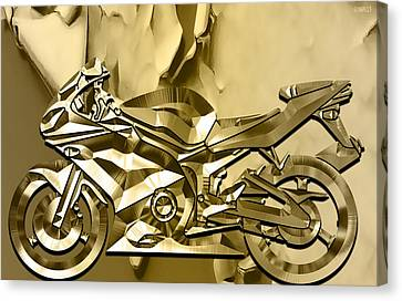 Ninja Motorcycle Colection Canvas Print by Marvin Blaine