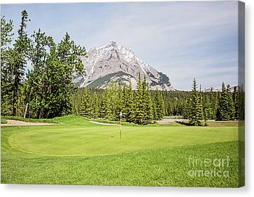 Canvas Print - Ninth Green - Banff Springs Golf Course by Scott Pellegrin