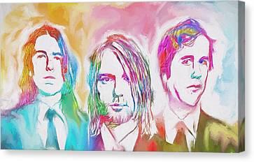 Alternative Music Canvas Print - Nirvana Color Splash by Dan Sproul
