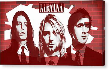 Hall Of Fame Canvas Print - Nirvana Tribute by Dan Sproul