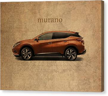 Nissan Murano Vintage Concept Art Canvas Print by Design Turnpike