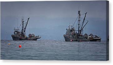 Canvas Print featuring the photograph Nita Dawn And Cape George by Randy Hall