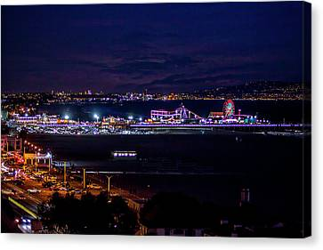 Nite Life On The Pier Canvas Print