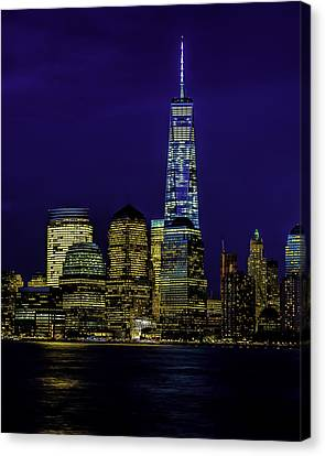 Nitetime Skyline Canvas Print by Nick Zelinsky