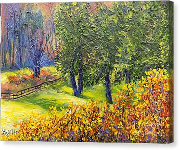 Canvas Print featuring the painting Nixon's A Glowing Morning View by Lee Nixon