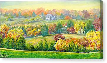 Canvas Print featuring the painting Nixon's Beauty Of Autumn by Lee Nixon
