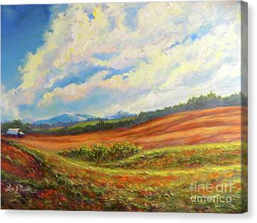 Canvas Print featuring the painting Nixon's Converging On The Farm by Lee Nixon