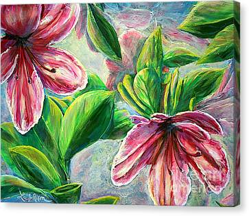 Canvas Print featuring the painting Nixon's Cool Sensations Of Spring by Lee Nixon