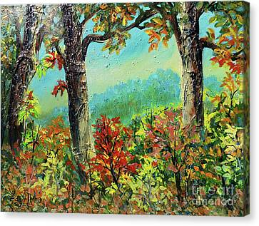 Canvas Print featuring the painting Nixon's Glorious Colors Of Fall by Lee Nixon