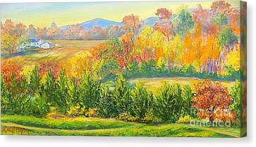 Canvas Print featuring the painting Nixon's Glorious View Of Autumn by Lee Nixon