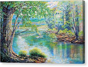 Canvas Print featuring the painting Nixon's Memories Of The Rapidan by Lee Nixon