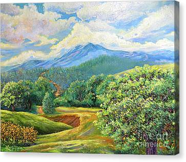 Canvas Print featuring the painting Nixon's Splendid View Of The Blue Ridge by Lee Nixon