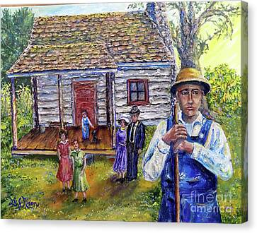 Canvas Print featuring the painting Nixon's The House That George Built - Gilmore House At Montpelier by Lee Nixon