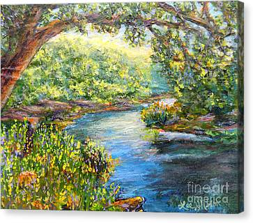 Canvas Print featuring the painting Nixon's View Of The Rapidan by Lee Nixon