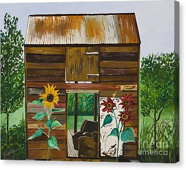 Nj Barn Canvas Print
