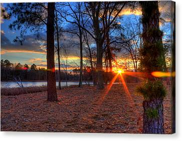 Kevin Hill Canvas Print - Sunset In New Jersey by Kevin Hill