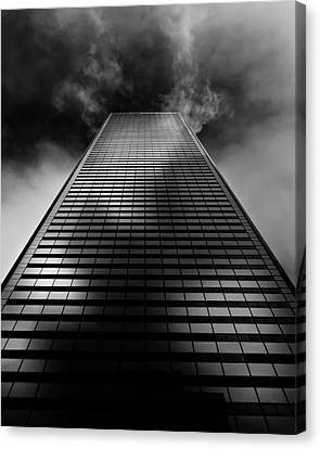 Canvas Print featuring the photograph No 100 King St W Toronto Canada 1 by Brian Carson