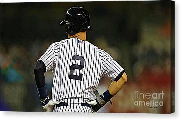 No 2, The Captain, Derek Jeter Canvas Print