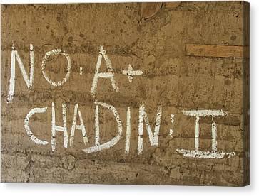 Canvas Print featuring the photograph No A  Chadin II by Britt Runyon