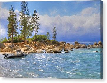 Canon 7d Canvas Print - No Boating Today by Donna Kennedy