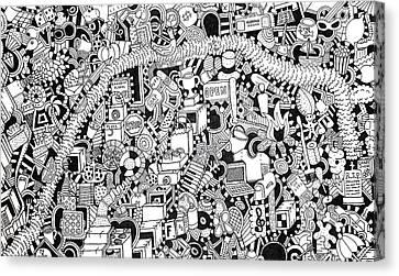 Different Stuff Canvas Print - No Boundaries by Chelsea Geldean