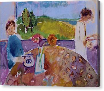 Canvas Print featuring the painting No Conversation by Diane Ursin