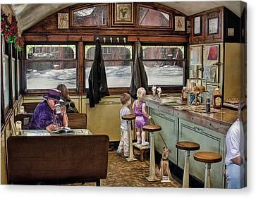 No Dogs Allowed Diner .... Canvas Print by Bob Kramer