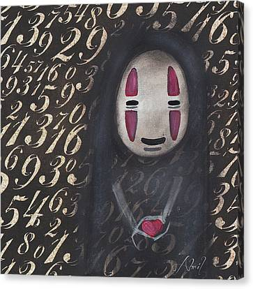 No Face With A Heart Canvas Print by Abril Andrade Griffith