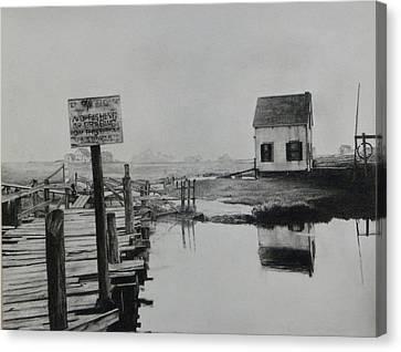 No Fishing Canvas Print by Richard Barone