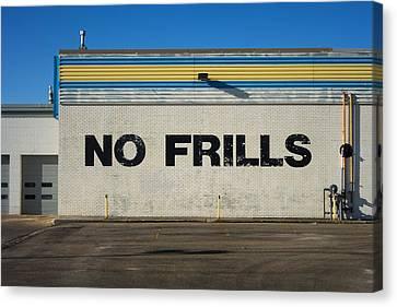 No Frlls Canvas Print by Bryan Scott