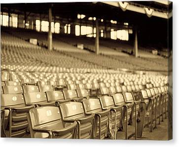 Baseball Canvas Print - No Games Left To See by Kenneth Krolikowski