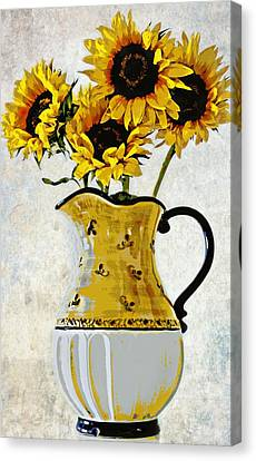 No Garden Should Be Without Sunflowers By C J Anderson Canvas Print by CJ Anderson