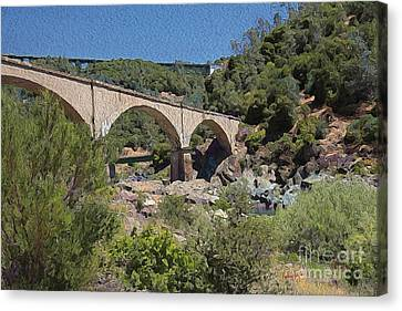 No Hands Bridge Canvas Print by Anthony Forster